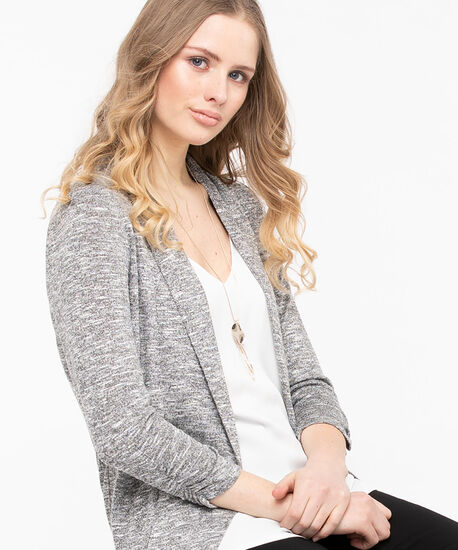 Shawl Collar Cardigan, Mid Heather Grey Mix, hi-res