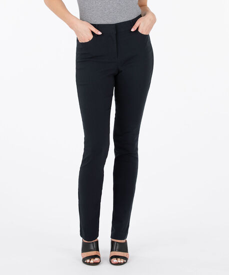 Microtwill Fly Front Slim Leg, Navy, hi-res