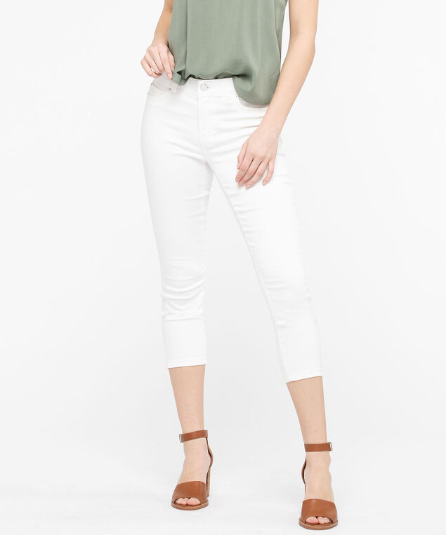 Fly Front Jegging Crop, Off White