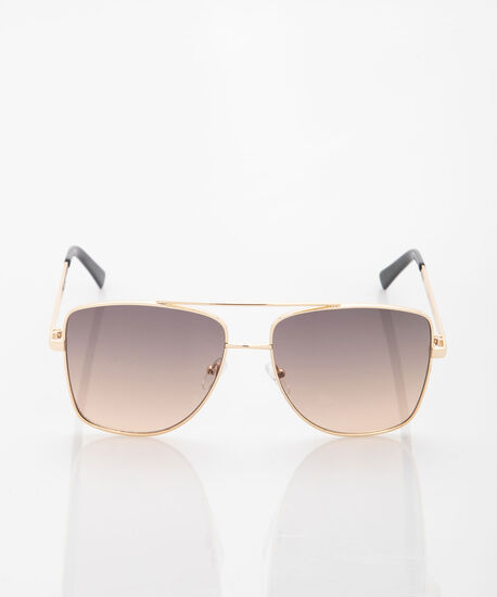 Ombre Metal Cateye Sunglasses, Gold/Brown, hi-res