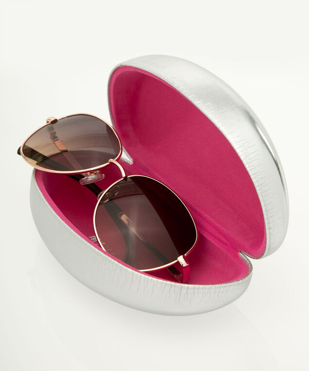 Flawless Hard Sunglass Case, Silver/Pink, hi-res