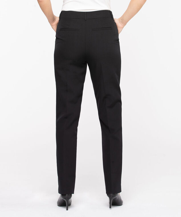 Slash Pocket Straight Leg Pant, Black