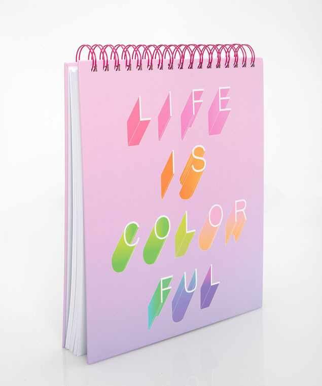 Life Is Colourful Sketchbook, Petal Pink/Pearl, hi-res