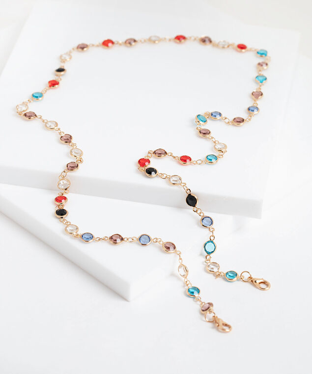 Delicate Coloured Crystal Mask Chain, Assorted
