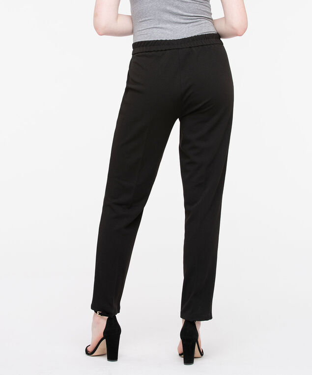Drawstring Crepe Jogger Pant, Black, hi-res