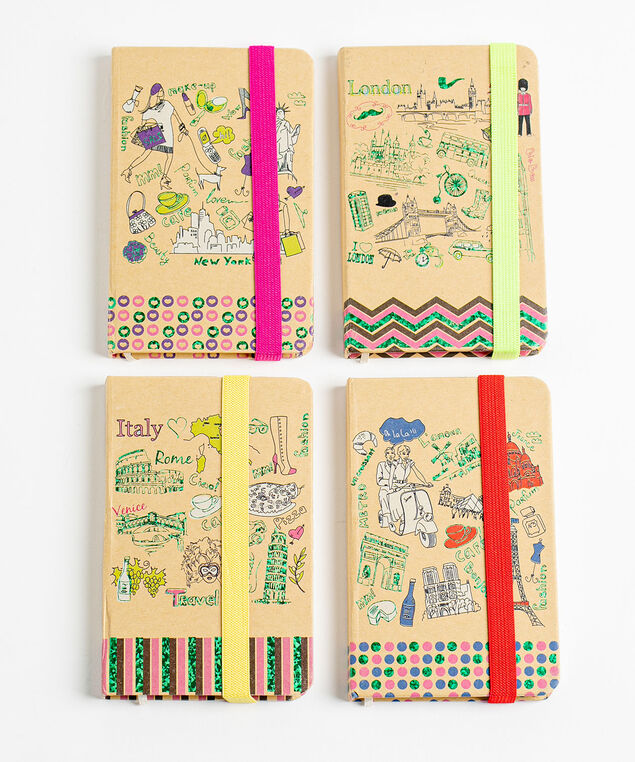 Travel Notebook 4-Pack, Sand