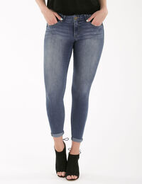 """Democracy """"Ab""""solution Blue Wash Ankle Jean"""