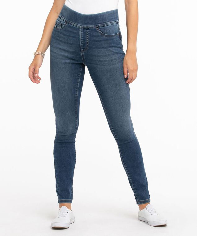 Mid Wash Pull-On Jegging, Mid Wash