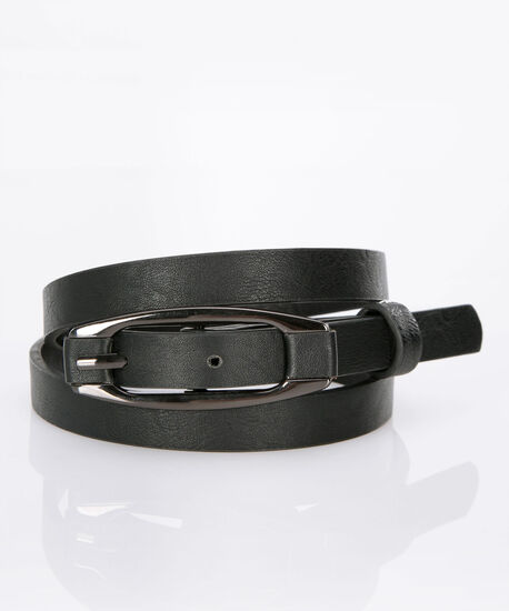 Basic Skinny Belt, Black, hi-res