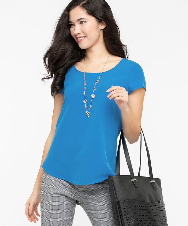 The Everyday Blouse, Azure, hi-res