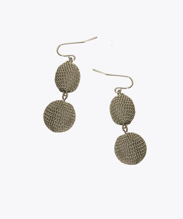 Chain Wrapped Ball Drop Earring, Rhodium, hi-res