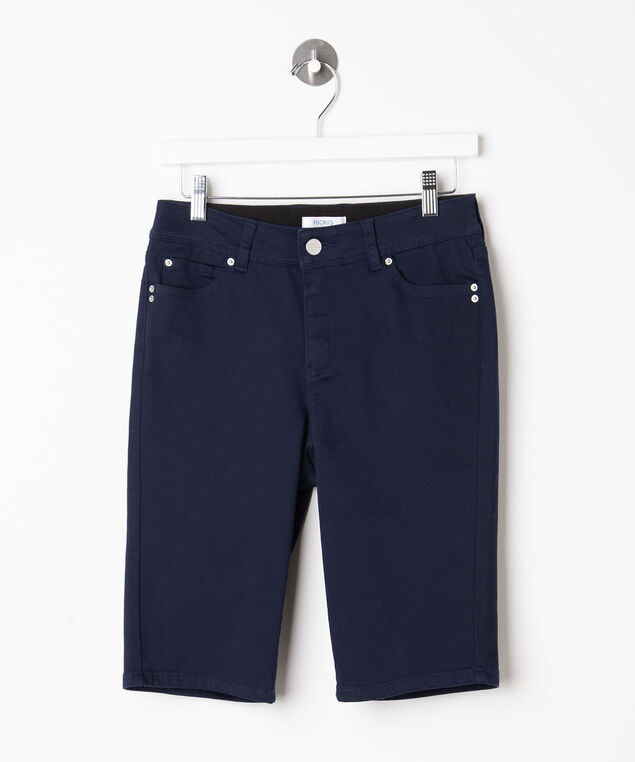 Fly Front Bermuda Short, Summer Navy, hi-res