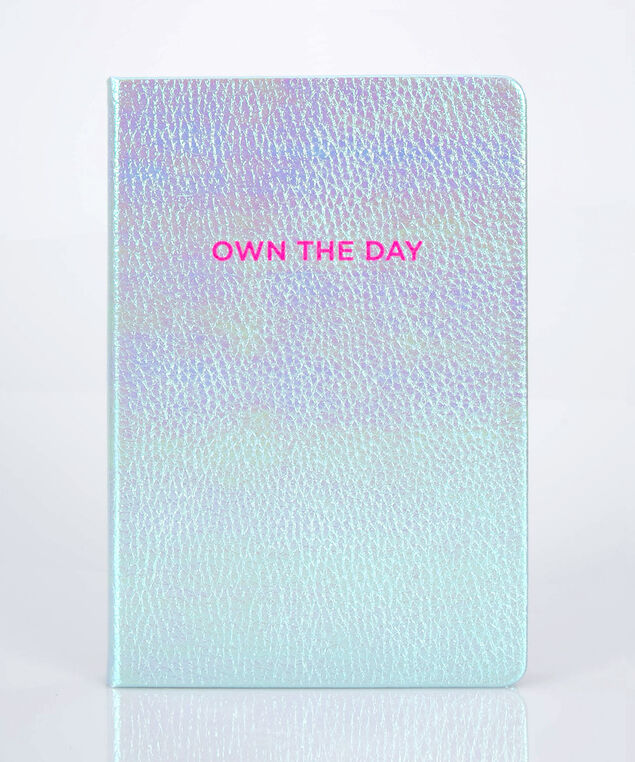 Own The Day Bound Notebook, Bright Pink/Bright Aqua, hi-res