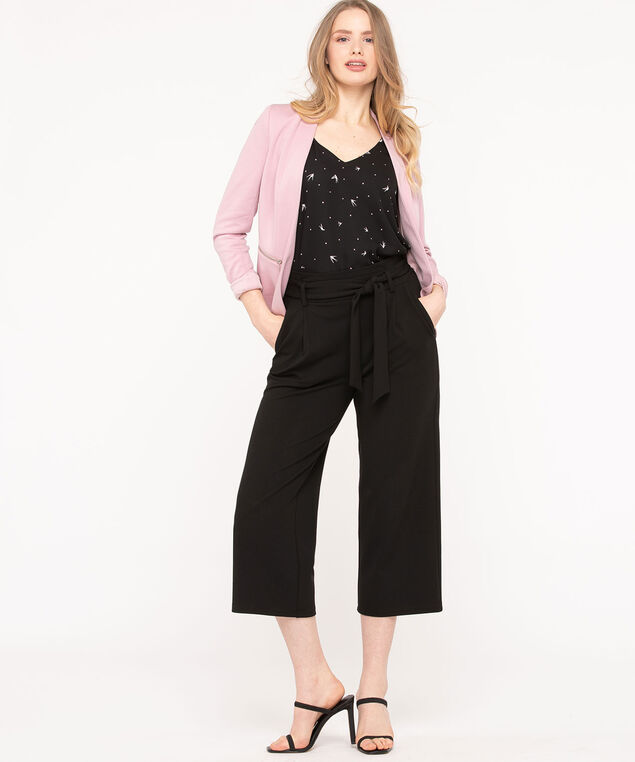 Ponte Zipper Pocket Open Blazer, Blush, hi-res