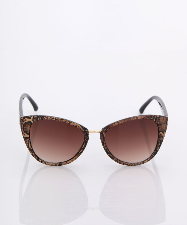 Animal Print Cateye Sunglasses, Brown/Almond, hi-res