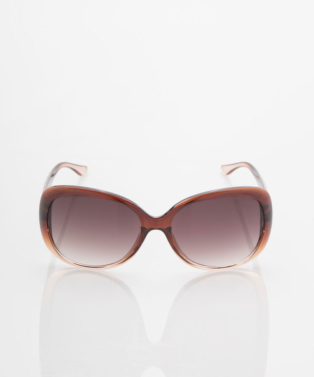 Ombre Colourblock Sunglasses, Praline, hi-res