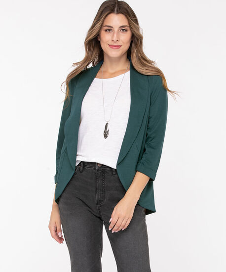 Terry Shawl Collar Cover Up, Teal, hi-res