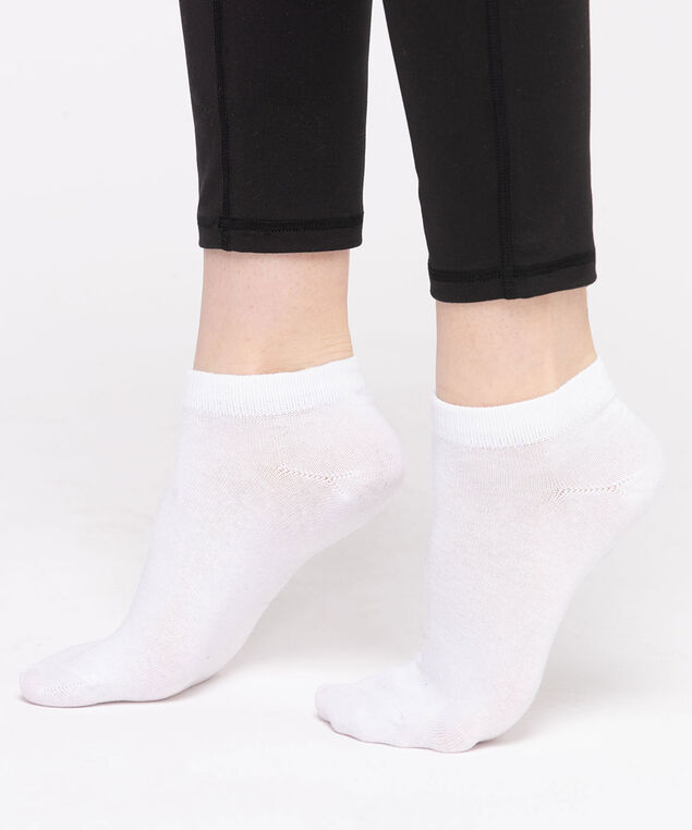 White Basic Ankle Socks, White