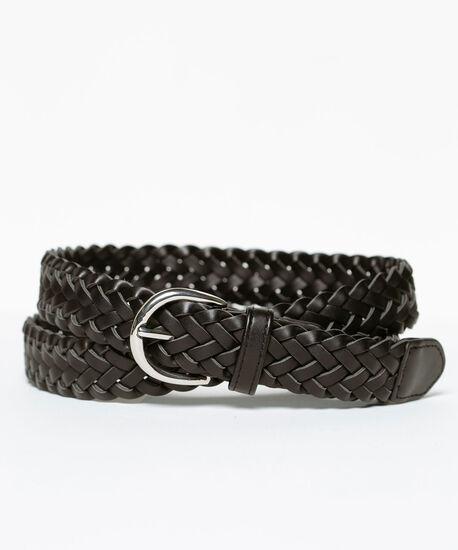Basic Braided Belt, Black, hi-res