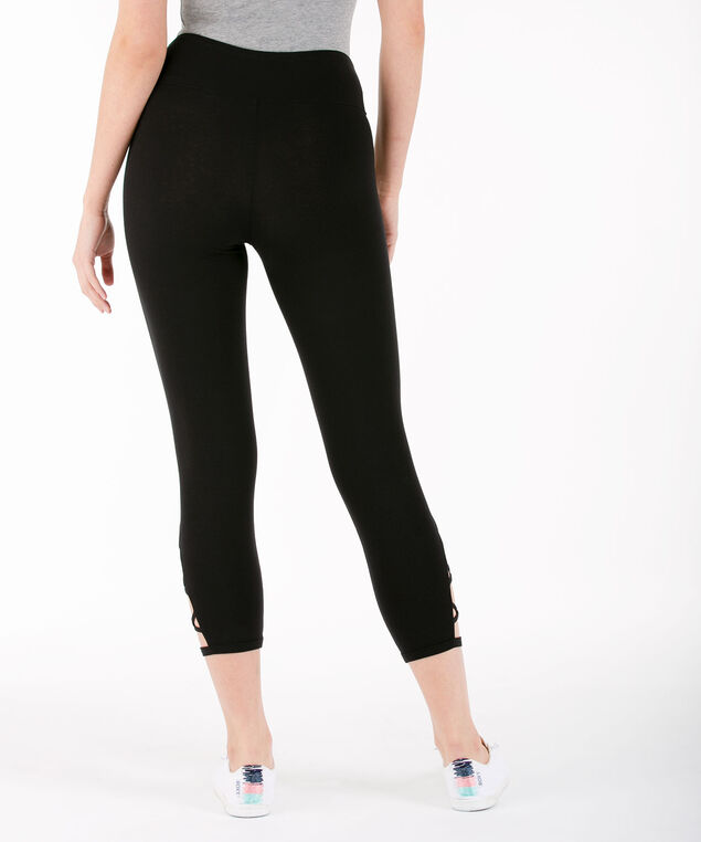 Criss Cross Crop Legging, Black, hi-res