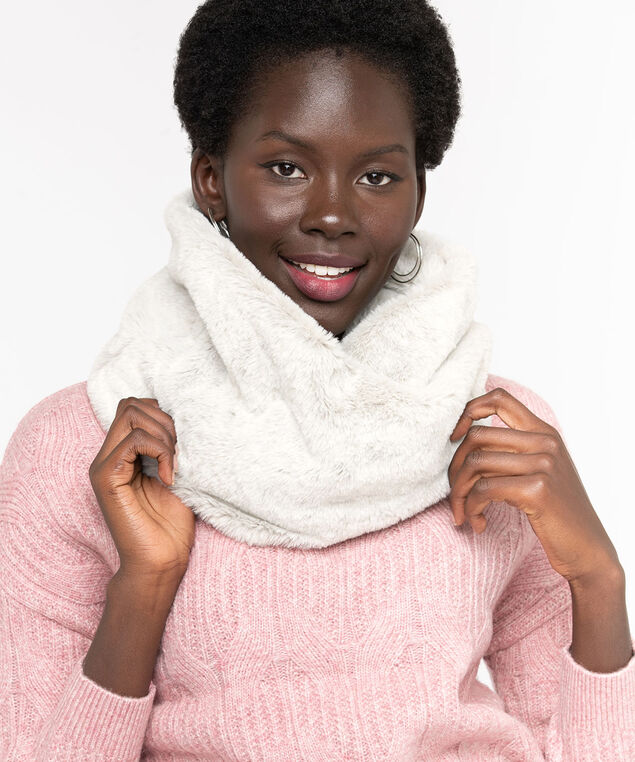 Faux Fur Snood, Sand Mix
