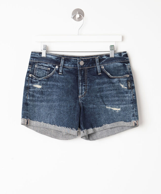 Silver Jeans Co. Suki Distressed Short, Dark Marble Wash, hi-res