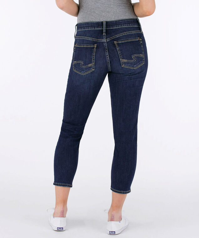 Silver Jeans Co. Suki Skinny Crop, Dark Wash, hi-res