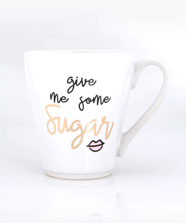 Give Me Some Sugar Mug, True White/Gold, hi-res
