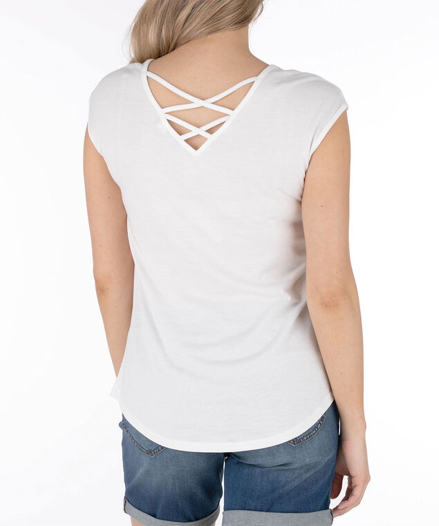 Cross Back Extended Sleeve Top, Pearl/Pink/Yellow/Blue, hi-res