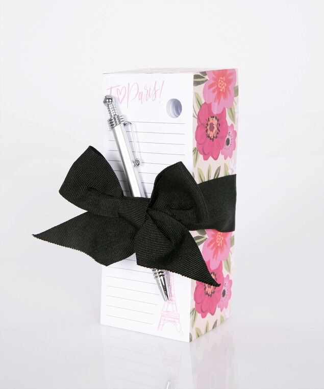 I Love Paris! Block Memo Pad Set, Pink, hi-res