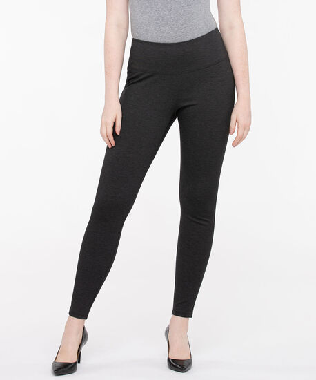 Luxe Ponte Grey Pattern Legging, Charcoal Grey, hi-res