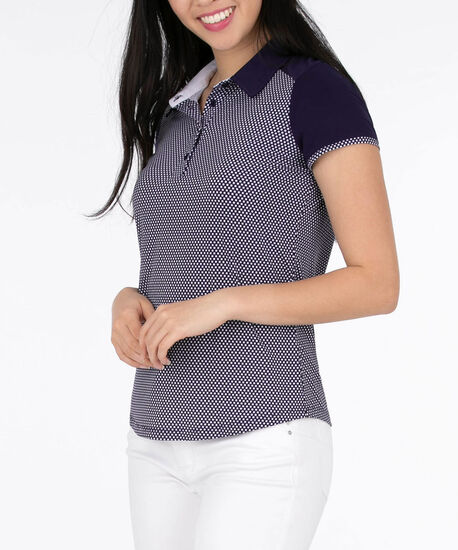 Collared Golf Shirt, Summer Navy/Pearl, hi-res