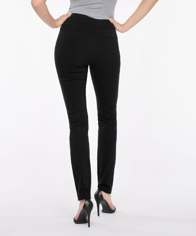 Microtwill Pull On Slim Leg - Short/Long, Black, hi-res