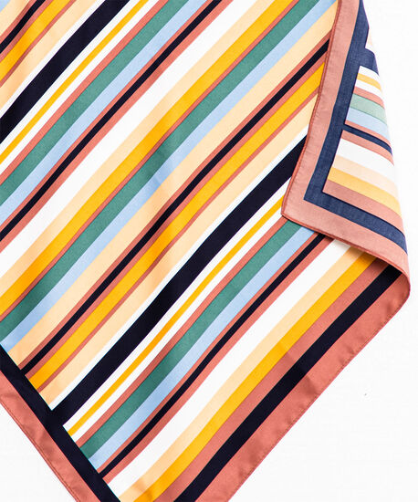 Striped Square Scarf, Assorted, hi-res