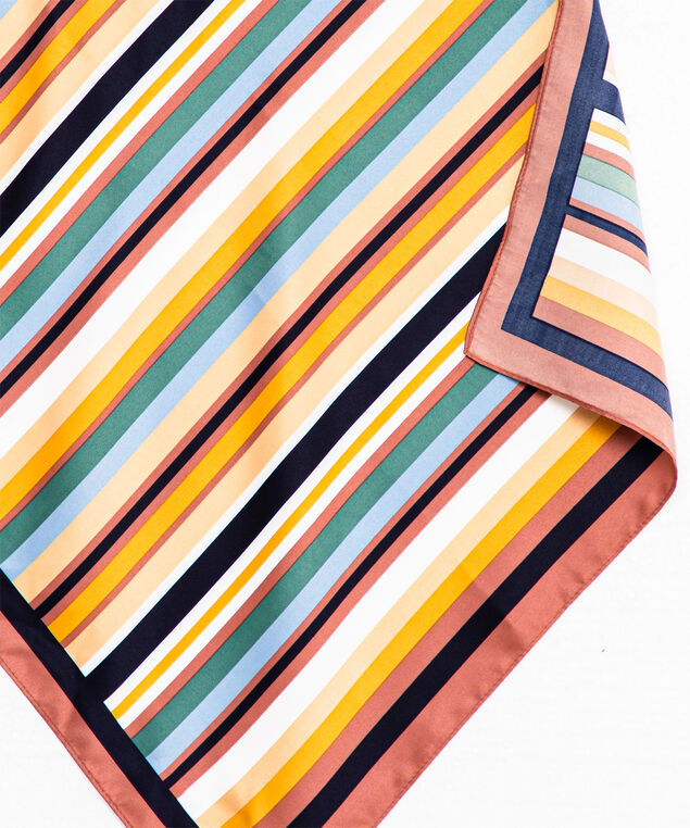 Striped Square Scarf, Assorted