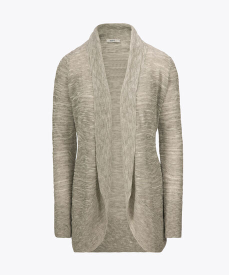 Pointelle Cocoon Cover-Up, Grey/True White, hi-res