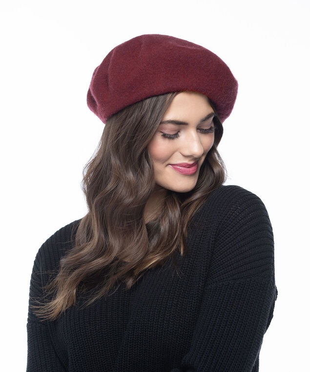 Wool Beret, Berry, hi-res
