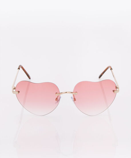 Heart Shaped Sunglasses, Pink/Rhodium, hi-res