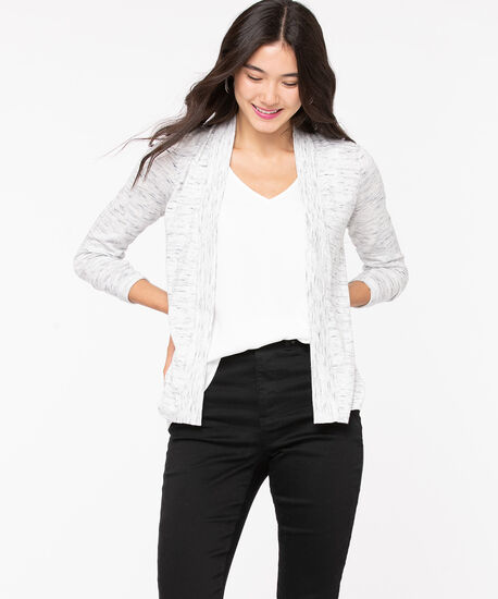 Open Pointelle Stitch Cardigan, Ivory, hi-res