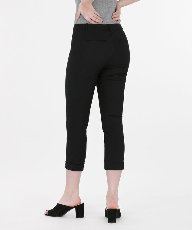 High Density Cuffed Crop Pant, Black, hi-res