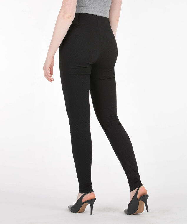 Jacquard Pull On Super Slim Leg, Black, hi-res