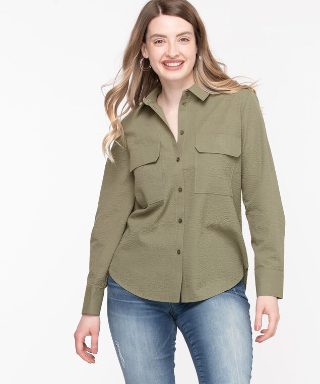 Utility Button Down Shirt, Capulet Olive