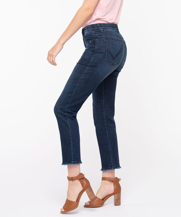 "Democracy ""AB""Solution High Rise Slim Straight Jean, Dark Wash, hi-res"