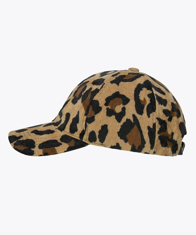 Animal Print Baseball Cap, Brown/Black, hi-res