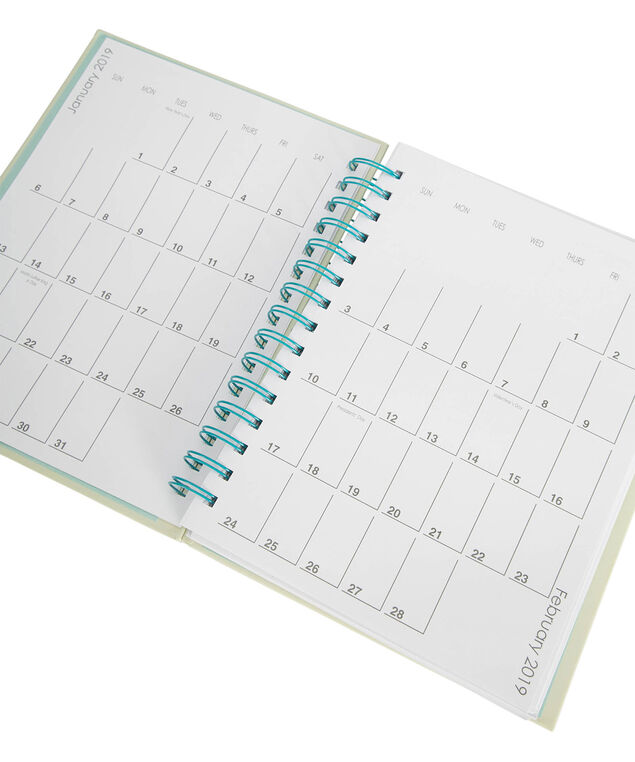 Llama 12 Month Weekly Agenda, Soft Yellow/Teal, hi-res