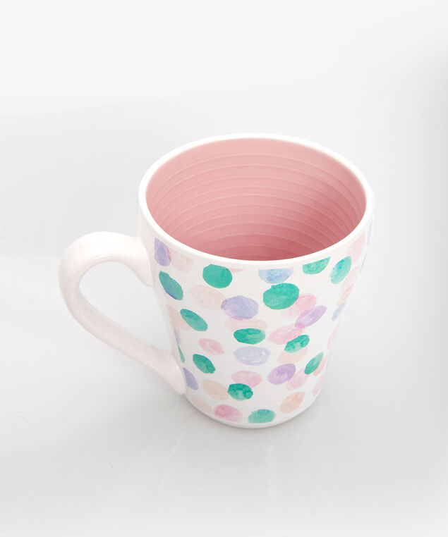Be Happy Coffee Mug, Pearl/Petal Pink/Gold, hi-res