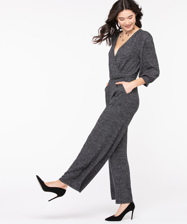 Grey Cross Front Jumpsuit, Grey, hi-res