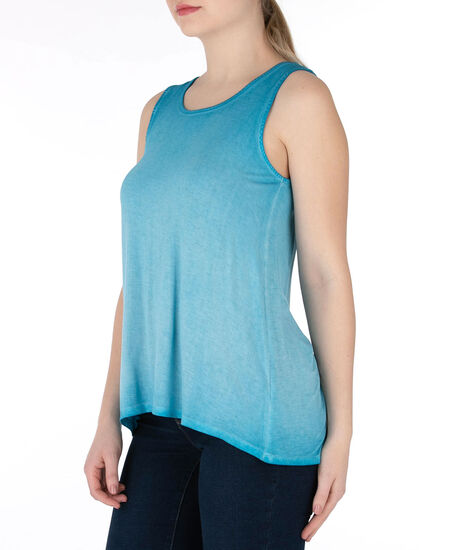 Cross-Back Sleeveless Top, Blue, hi-res