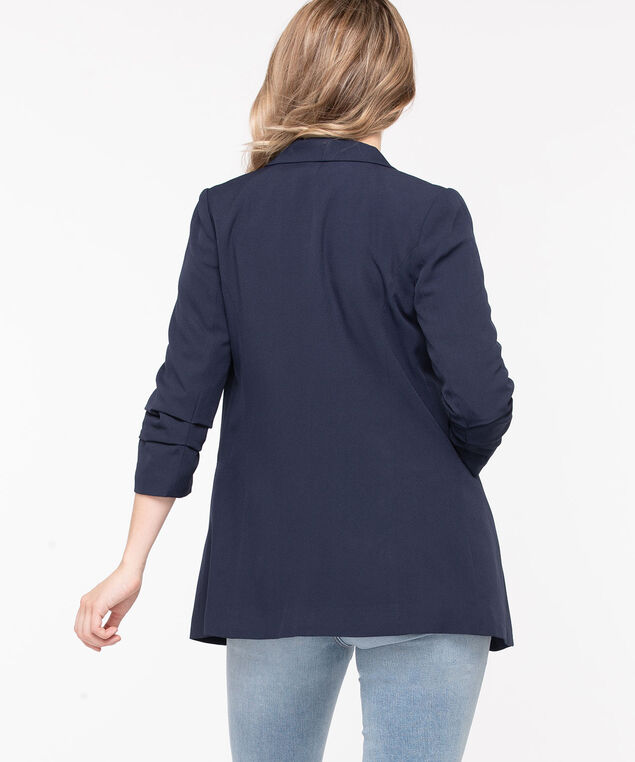 Soft Woven Stretch Open Blazer, Summer Navy, hi-res