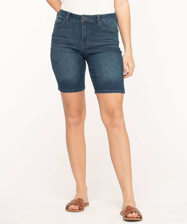 Mid Wash Denim Bermuda Short, Mid Wash